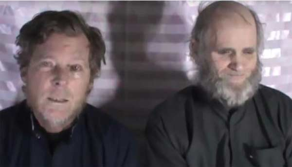 Taliban video shows US and Australian hostages