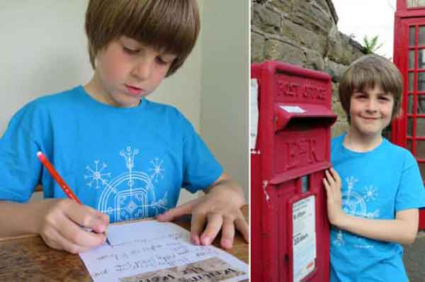 Boy, 9, has written letter to every country in the world