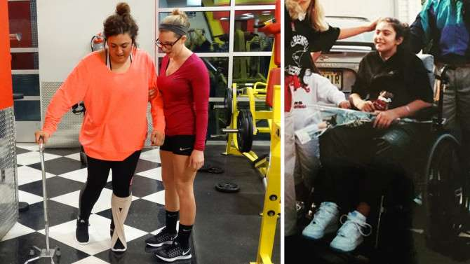 Woman left paralyzed 16 years ago is now walking again