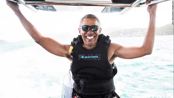 Barack Obama's kitesurfing adventure with Richard Branson