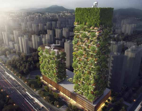 Pollution-fighting vertical forest buildings coming to China