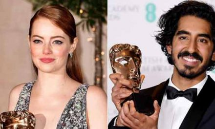 Bafta wins for Emma Stone and Dev Patel
