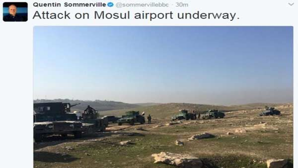 Iraqi forces move in on Mosul airport