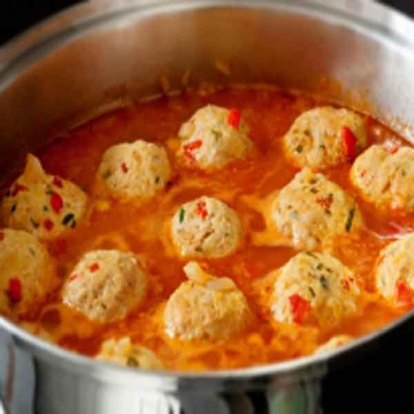 Chicken meatballs, a classic food recipe