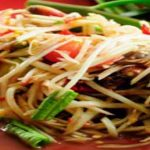 Papaya salad, low calorie recipes