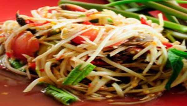 Papaya salad, low calorie recipes