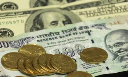 Indian Rupee down 5 paisa at 64.96