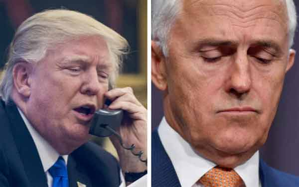 Refugee deal doubt after Trump-Turnbull call