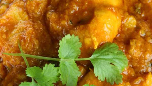 Gravy chicken curry in coconut milk