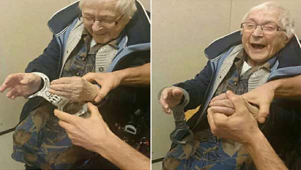 99-year-old granny gets 'arrested' to fulfill bucket list!
