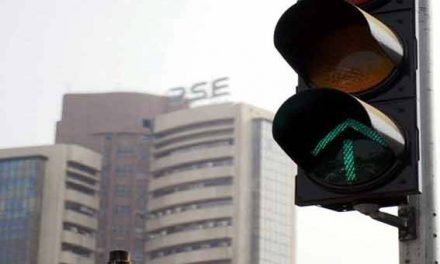 Sensex up 77 points