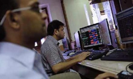 Sensex sheds 94 points; exit poll results eyed