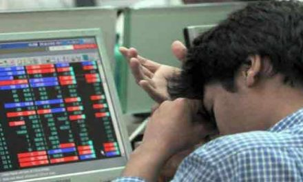 Sensex down 55 points
