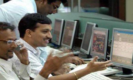 Sensex gains 64 points