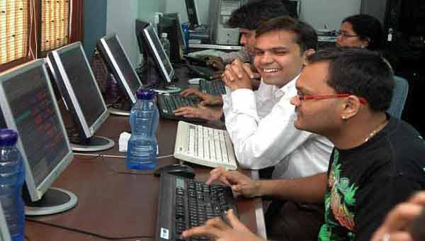 Sensex trading marginally higher
