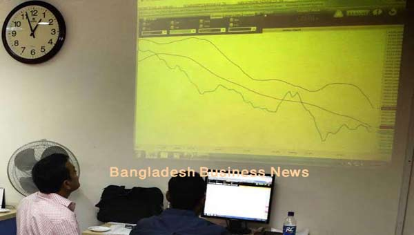 Bangladesh's stocks stay down at midday