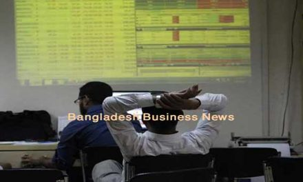 Bangladesh's stocks down at midday on Sunday