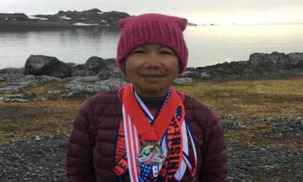 70-yr-old woman ran a marathon on every continent in 1 week