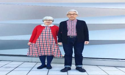 Japanese couple for 37 years wear matching outfits every day