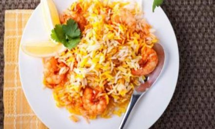 Delicious prawn biryani recipe