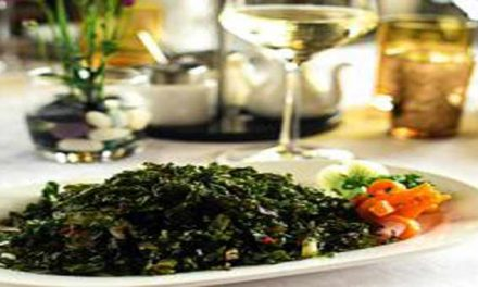 Healthy crispy spinach dish