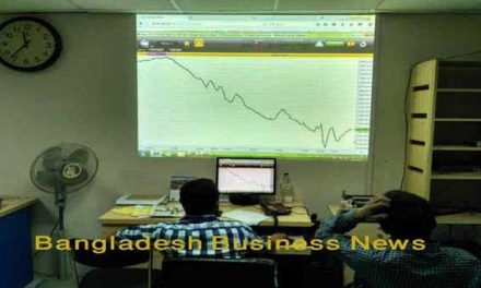 Bangladesh's stocks plunge at midday Sunday