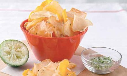 Homemade sweet potato chips, a crunchy snack