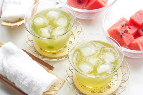 Watermelon iced tea, spring and summer beverage!
