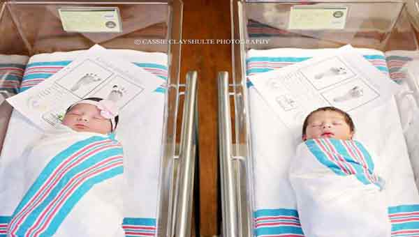 Newborns named Romeo and Juliet delivered hours apart
