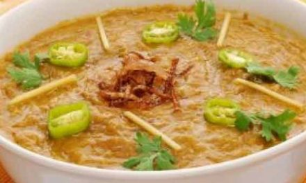 Homemade delicious mutton stew Haleem