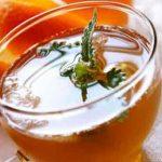 Healthy honey-lemon-ginger tea