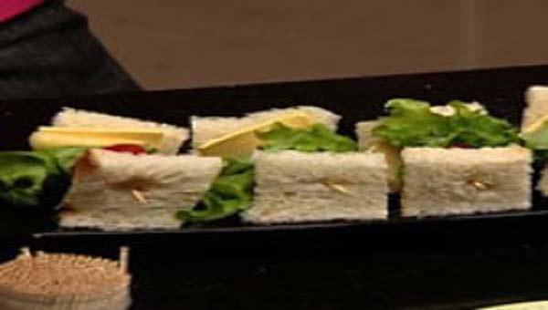 Sandwich on a stick, a light snack