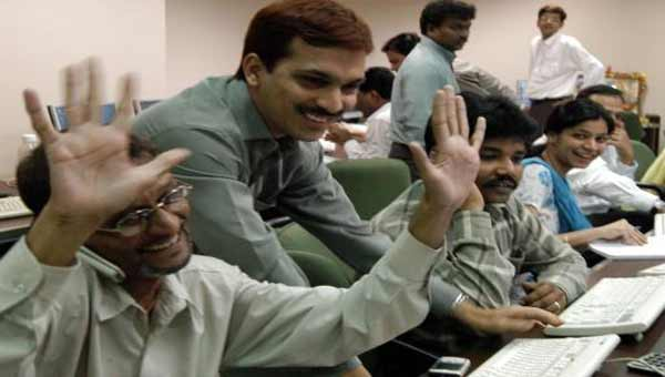 Indian sensex surges 218 points