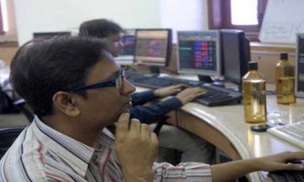 Sensex down 98 points