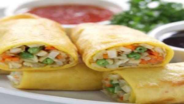 Homemade tasty vegetable spring rolls