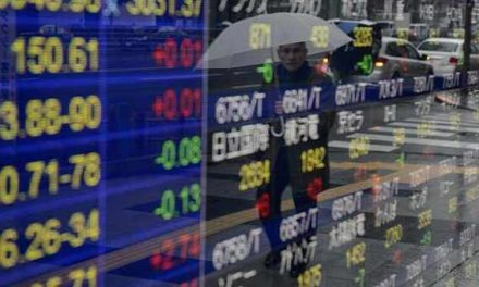 Asian shares pressured by geopolitical risks