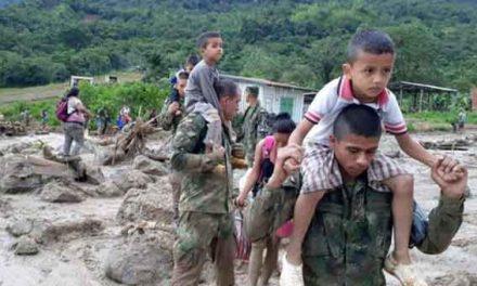 Colombia landslide 'killed 44 children'