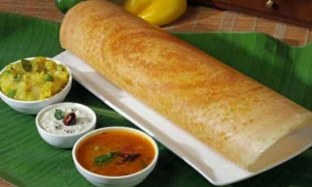 Homemade spicy masala dosa
