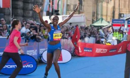 Kenya's Jepkosgei sets four world records