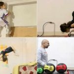 3 years old superkid climbs walls, lifts weights