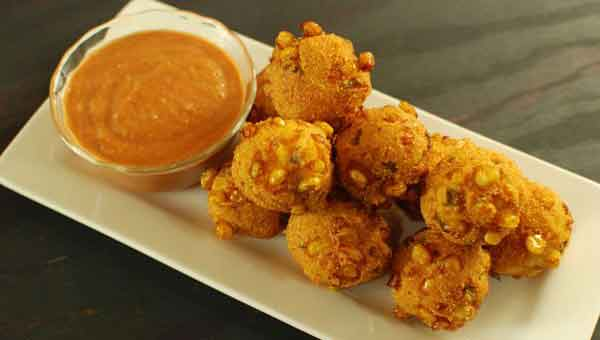 Tasty corn balls, simple side dish