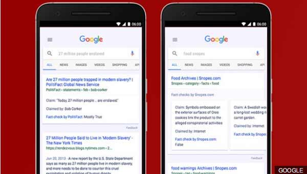 Google adds search results 'fact check' flag