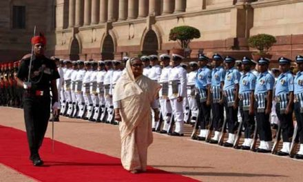 Bangladesh PM Sheikh Hasina accorded ceremonial welcome at Rashtrapati Bhavan