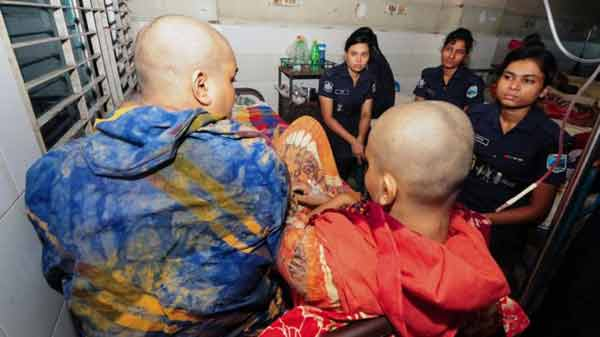 Bangladesh shaved head rape case victims