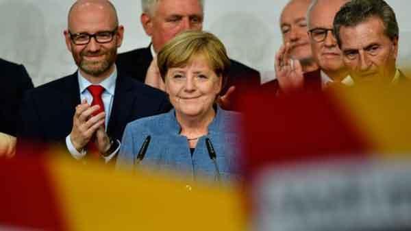 Merkel wins fourth term in German election