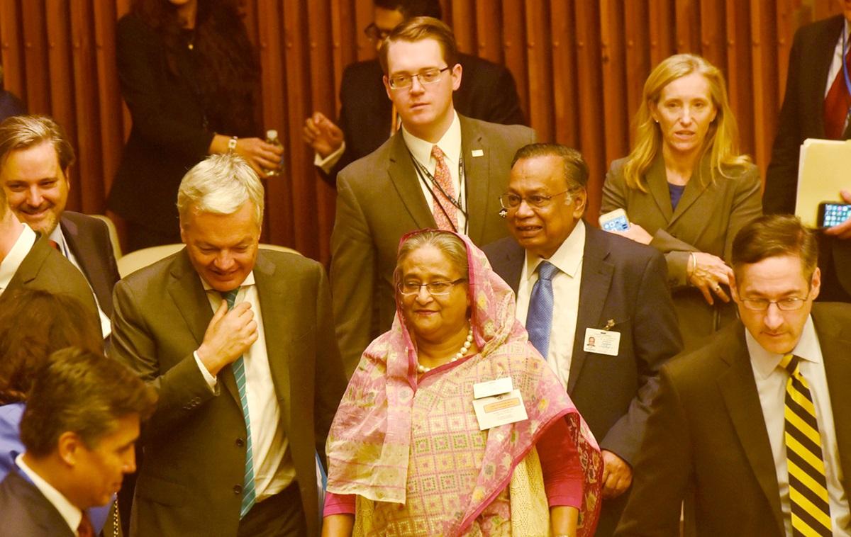 Hasina in UN