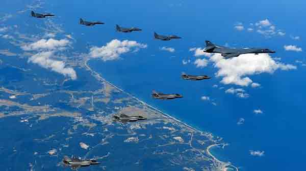 US bombers stage North Korea show of force