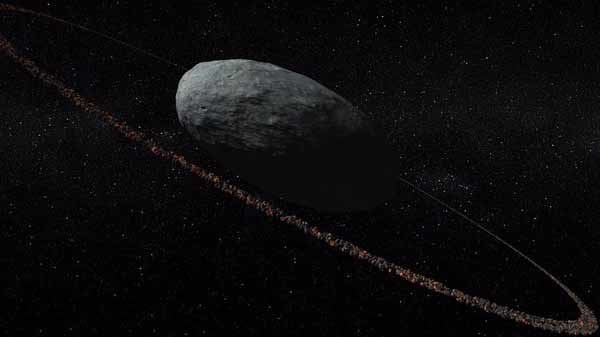 Beyond orbit of Neptune, a dwarf ringed-planet is found