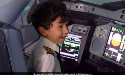 Six-year-old-boy becomes 'Pilot' for a day