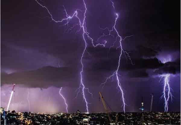 Lightning blazes across Queensland skies